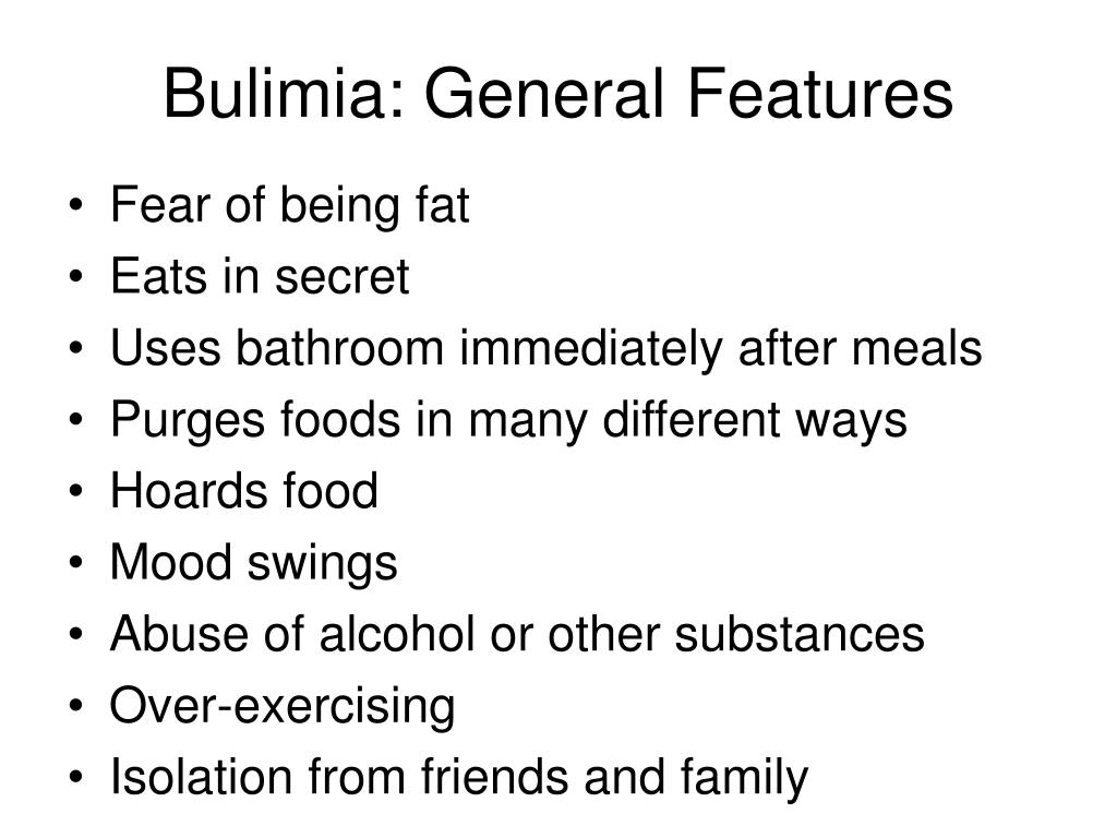 Bulimia: General Features
