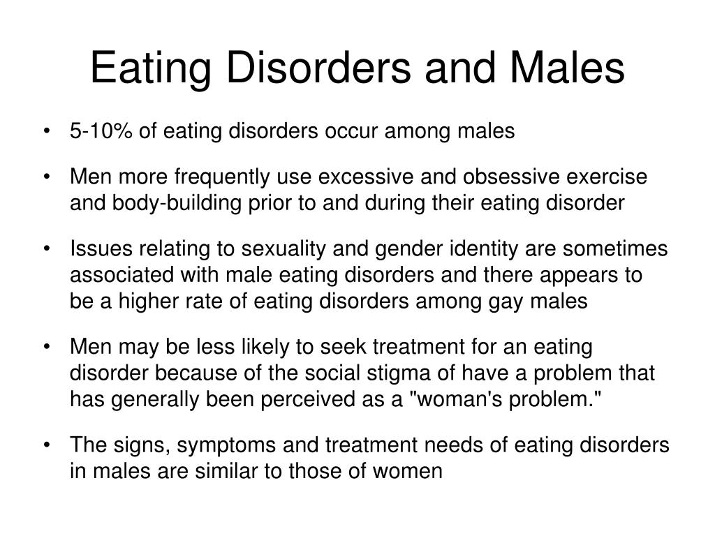 Eating Disorders and Males