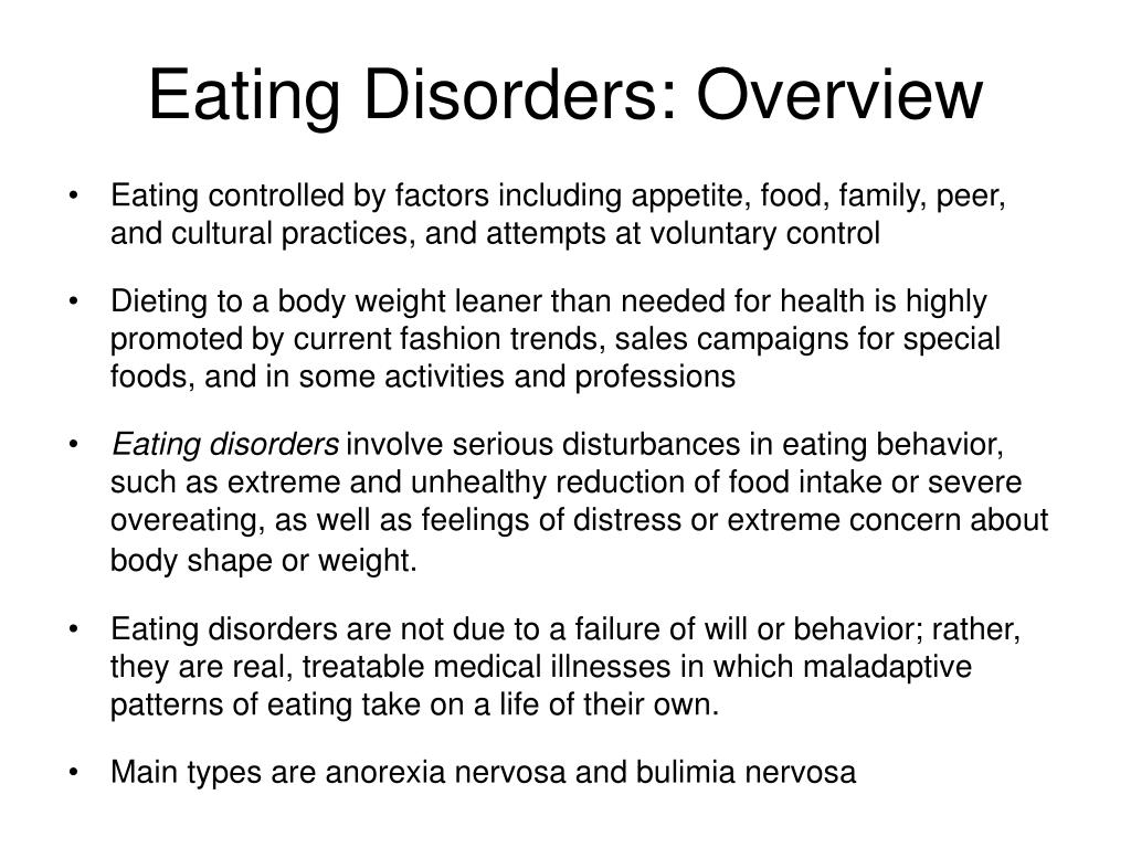 Eating Disorders: Overview