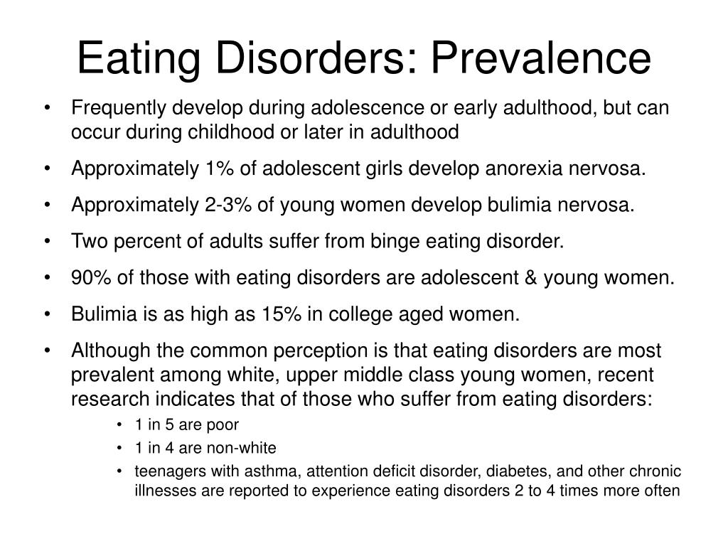 Eating Disorders: Prevalence