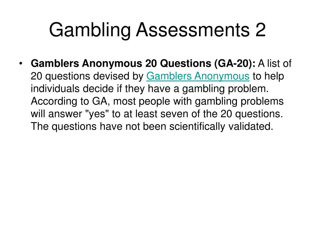 Gambling Assessments 2
