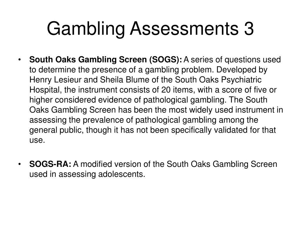 Gambling Assessments 3