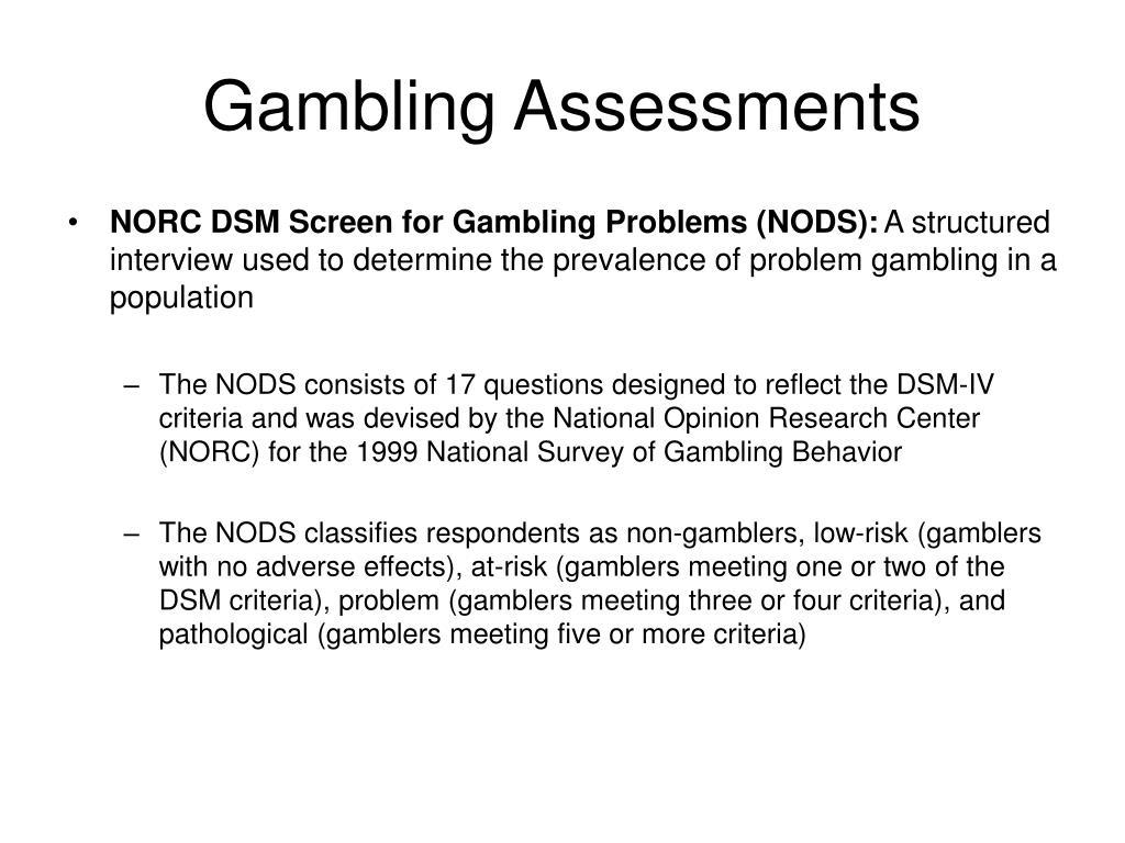 Gambling Assessments