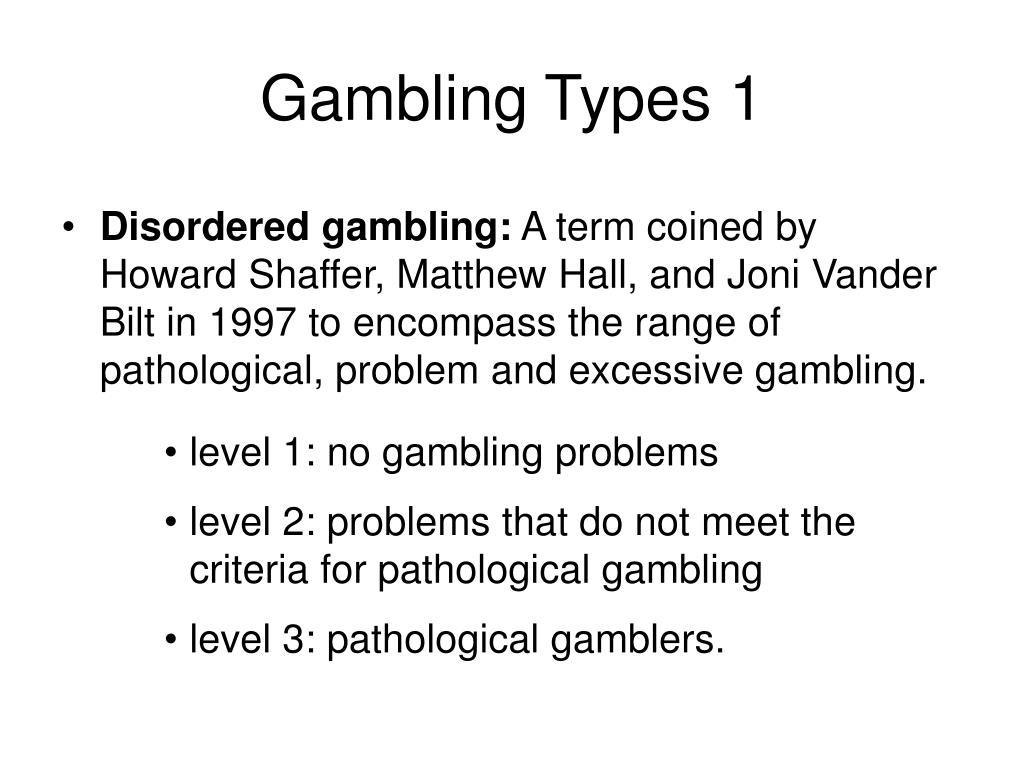 Gambling Types 1