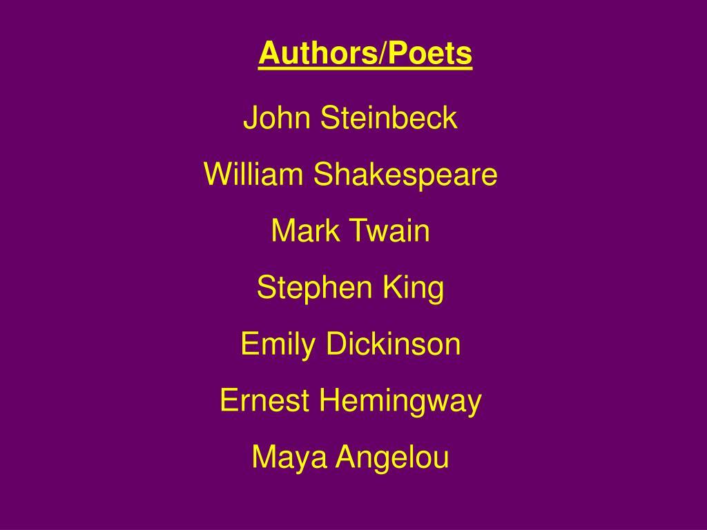 Authors/Poets