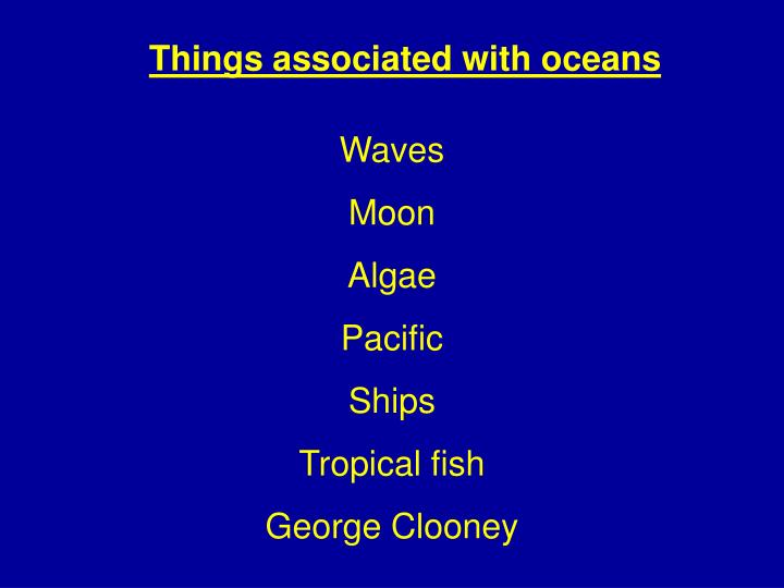 Things associated with oceans