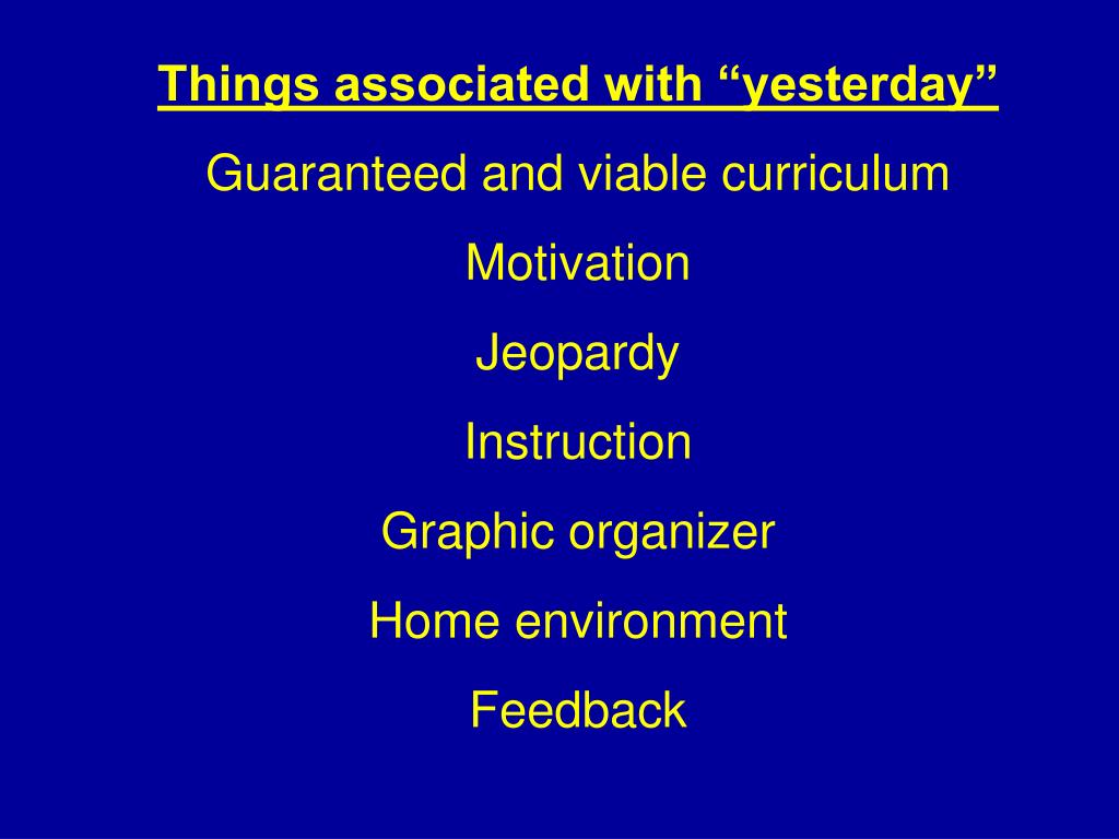 "Things associated with ""yesterday"""