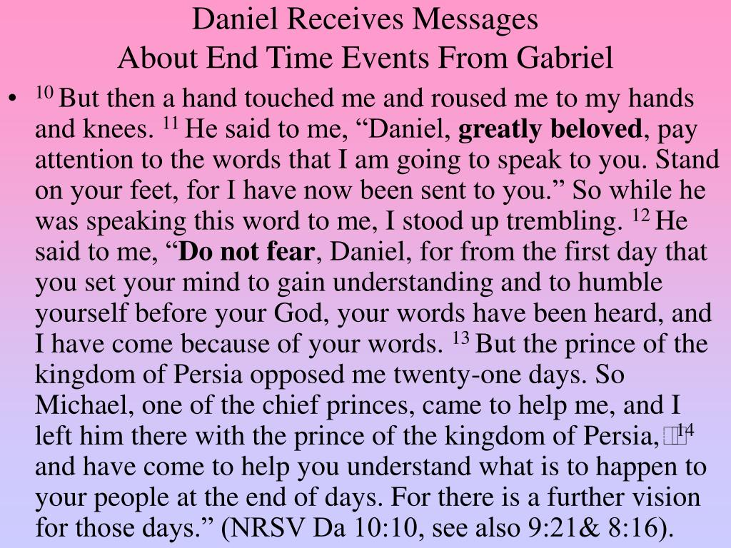 Daniel Receives Messages