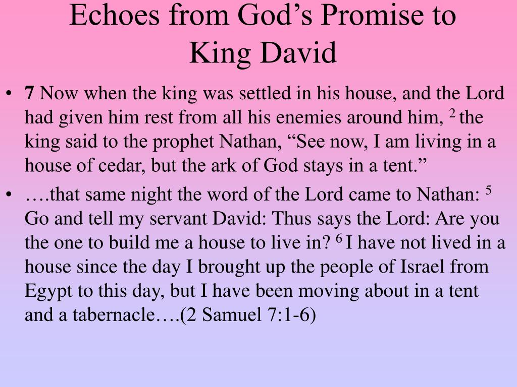 Echoes from God's Promise to King David