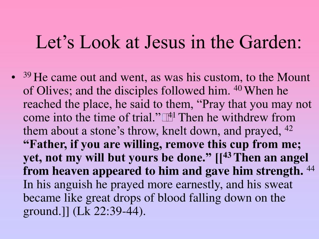 Let's Look at Jesus in the Garden: