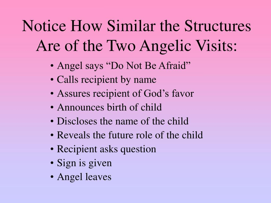 Notice How Similar the Structures Are of the Two Angelic Visits: