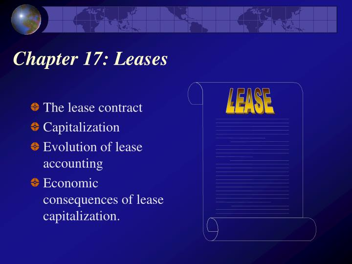 Chapter 17 leases