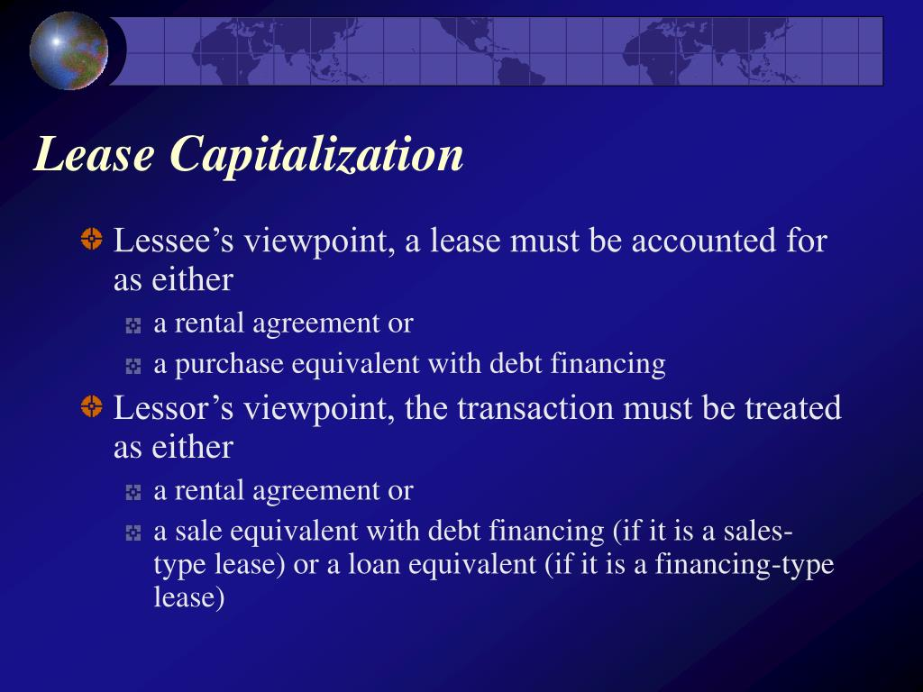 Lease Capitalization