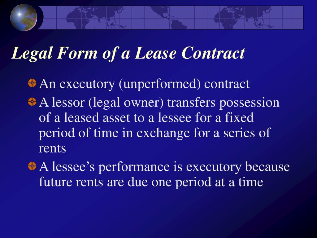 Legal Form of a Lease Contract