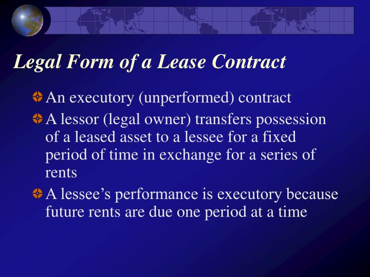 Legal form of a lease contract l.jpg