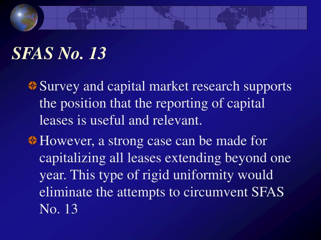 SFAS No. 13