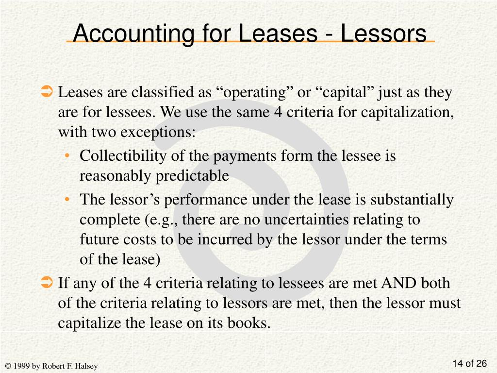 Accounting for Leases - Lessors