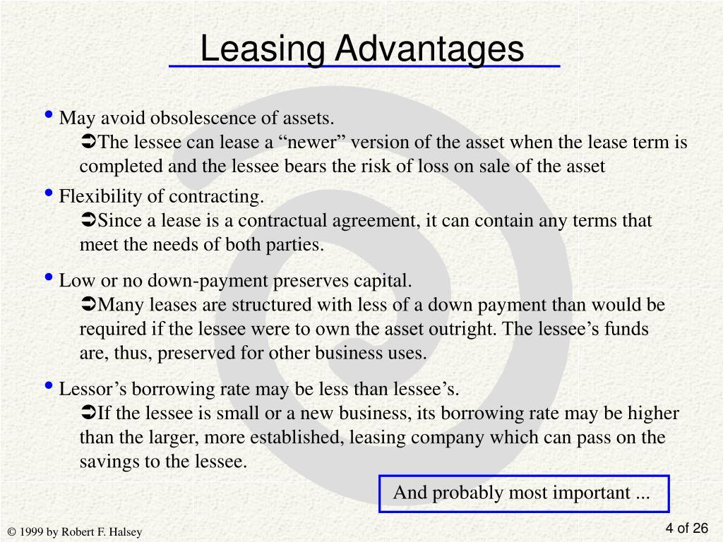 Leasing Advantages