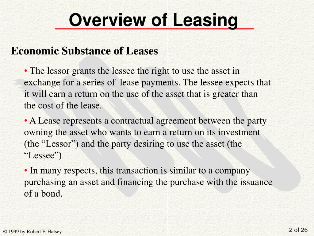 Overview of Leasing