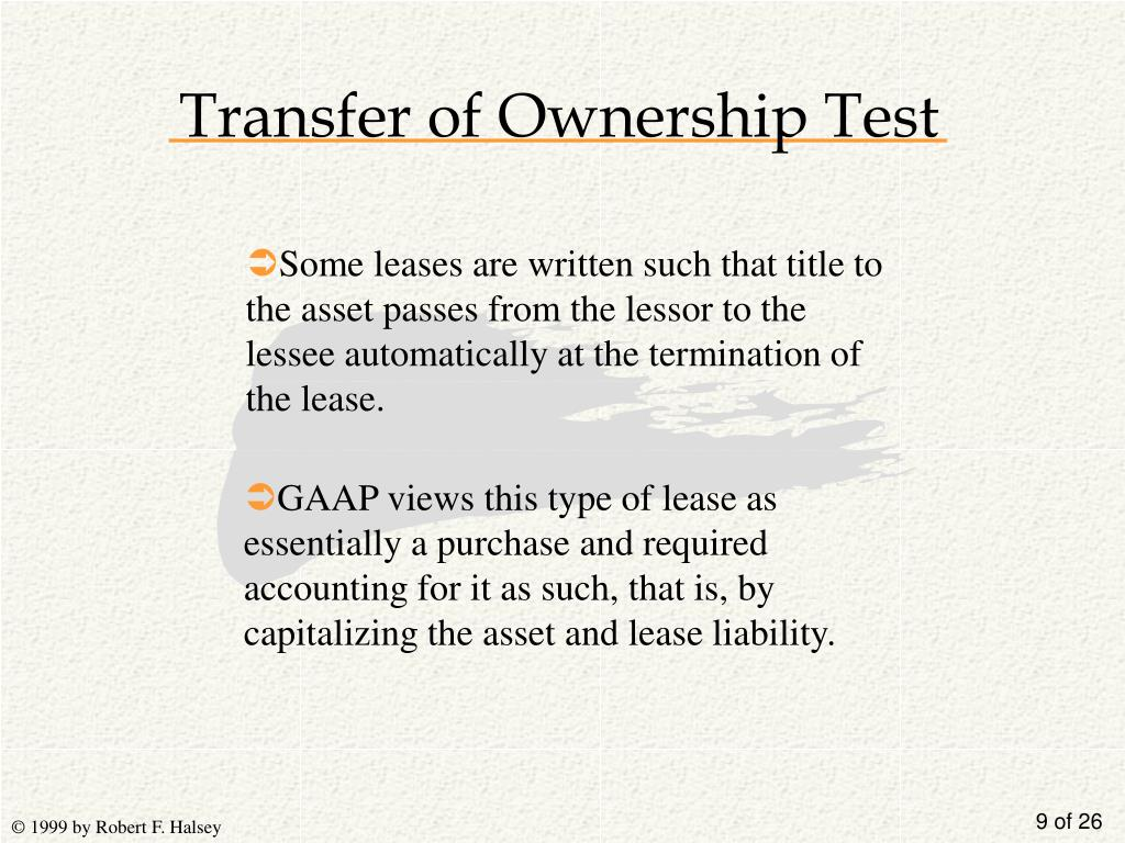 Transfer of Ownership Test
