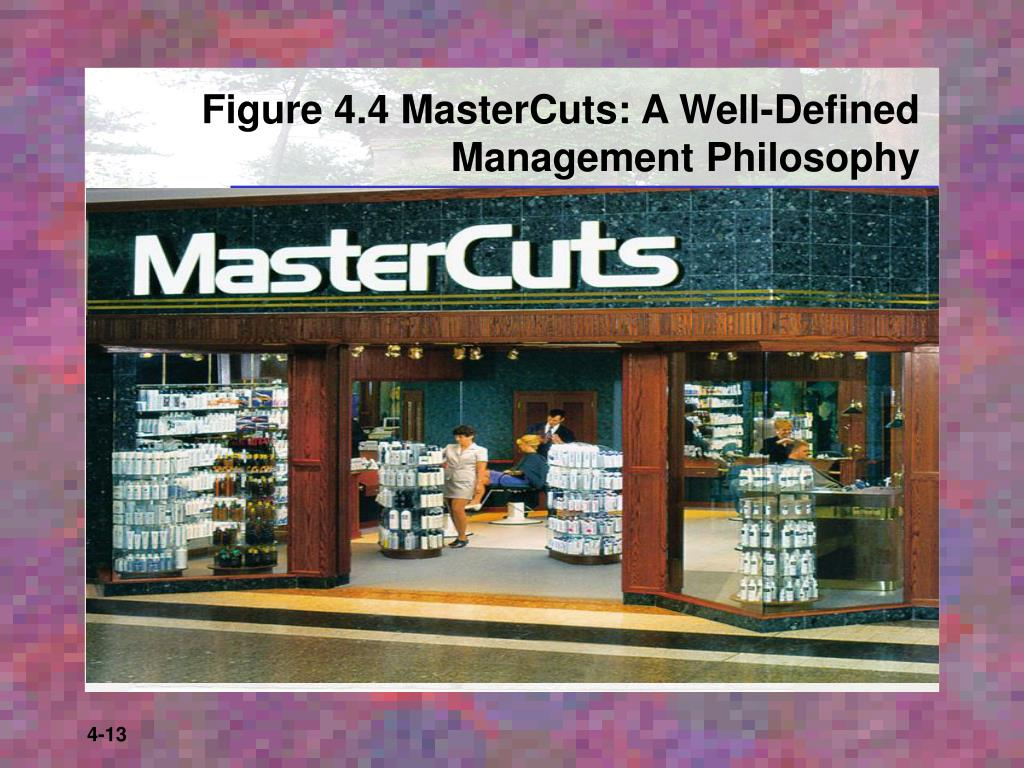 Figure 4.4 MasterCuts: A Well-Defined Management Philosophy