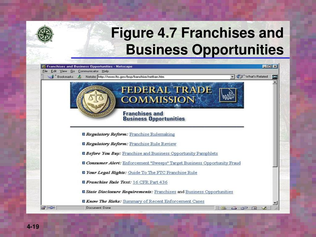 Figure 4.7 Franchises and