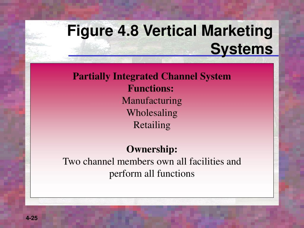 Figure 4.8 Vertical Marketing Systems