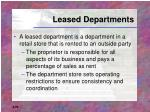 leased departments