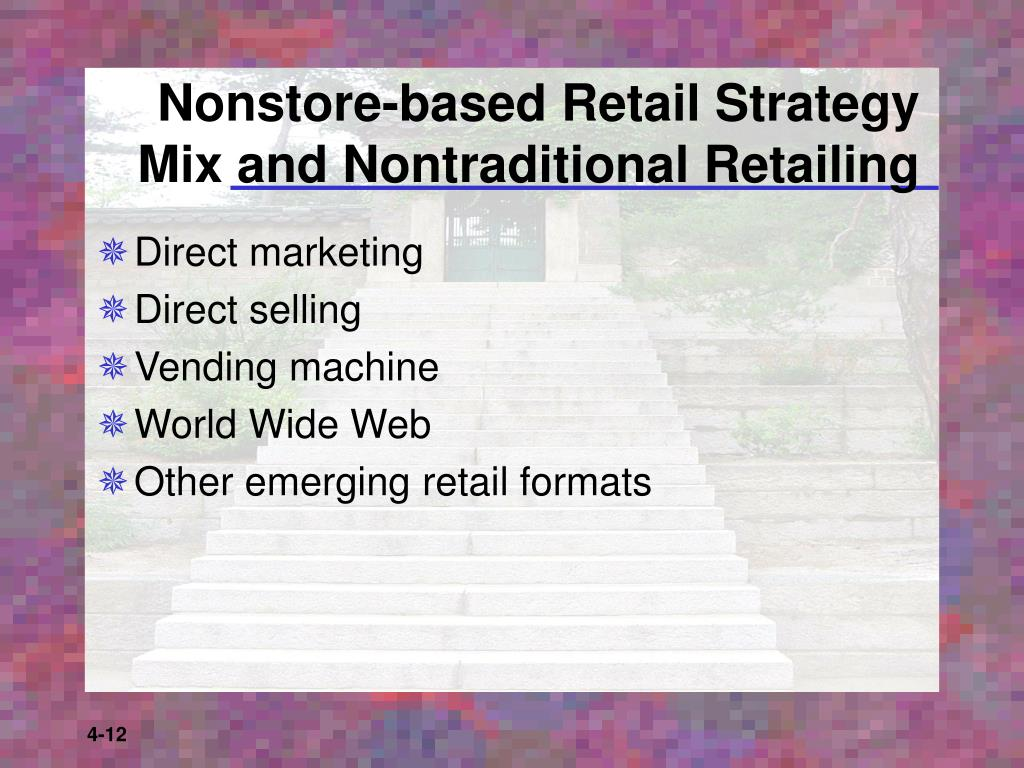 Nonstore-based Retail Strategy Mix and Nontraditional Retailing