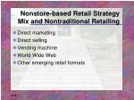 nonstore based retail strategy mix and nontraditional retailing