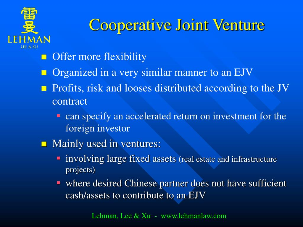 Cooperative Joint Venture