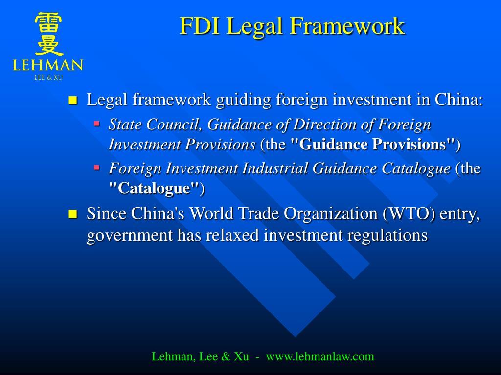 FDI Legal Framework