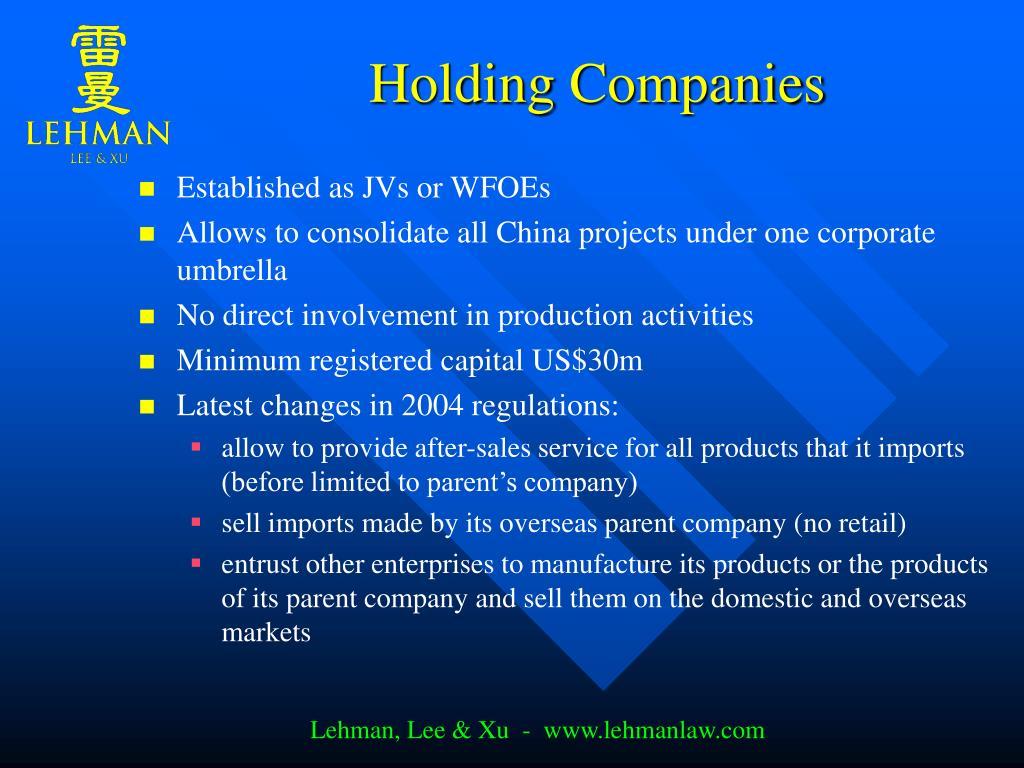 Holding Companies