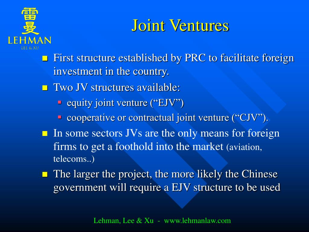 Joint Ventures