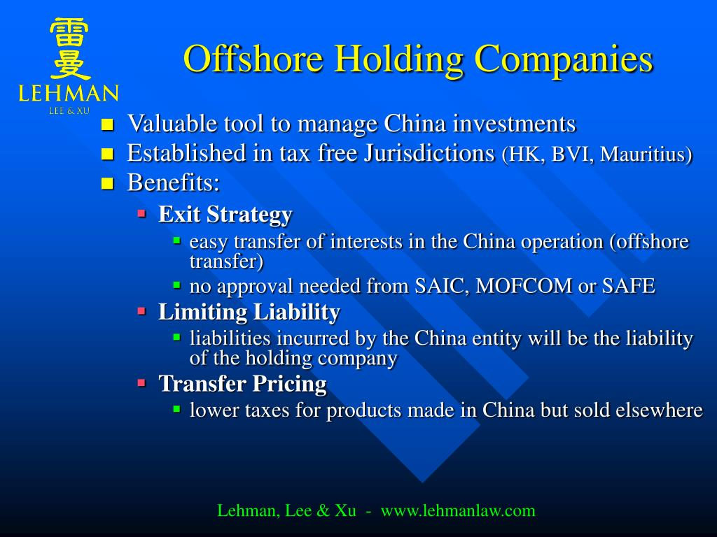 Offshore Holding Companies