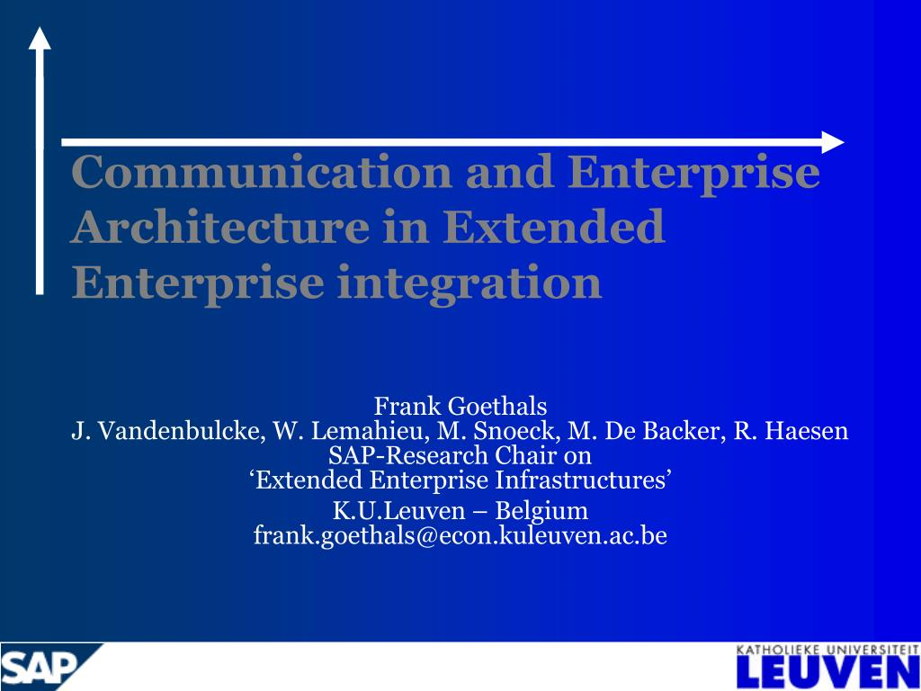 Communication and Enterprise Architecture in Extended Enterprise integration
