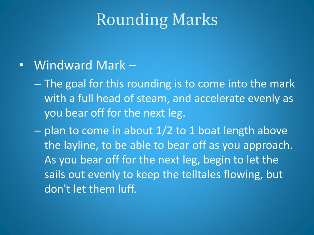 Rounding Marks