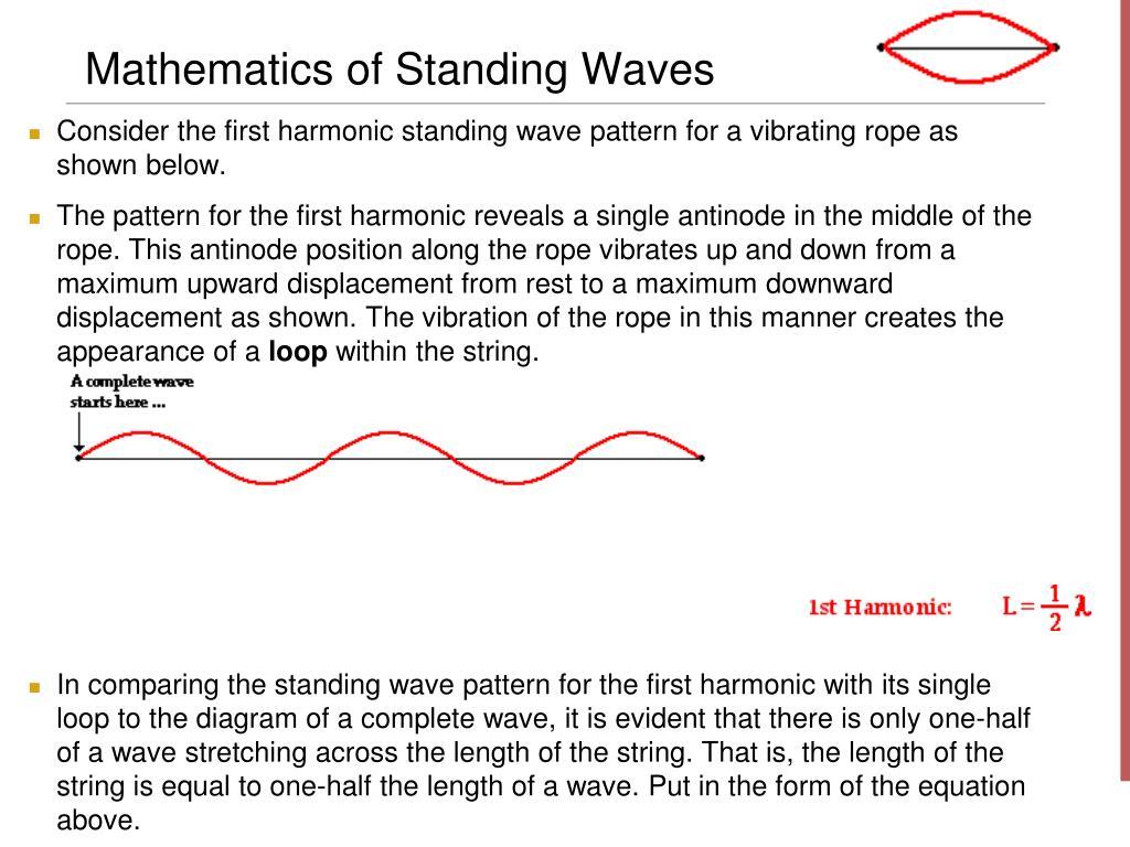 Mathematics of Standing Waves