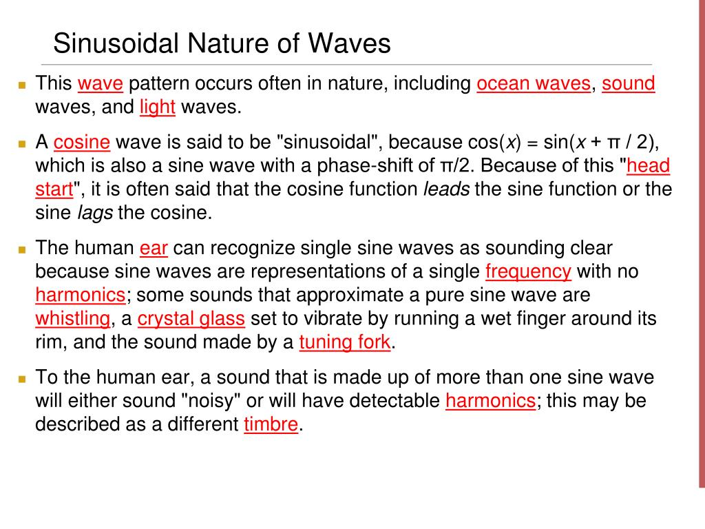 Sinusoidal Nature of Waves