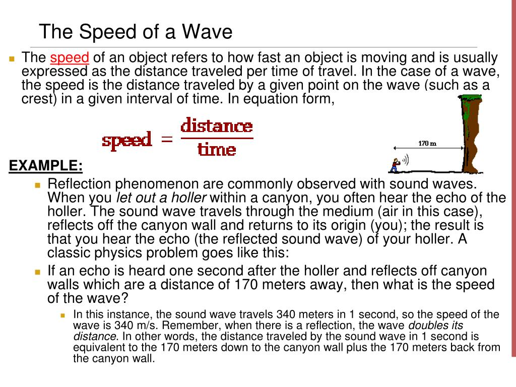 The Speed of a Wave