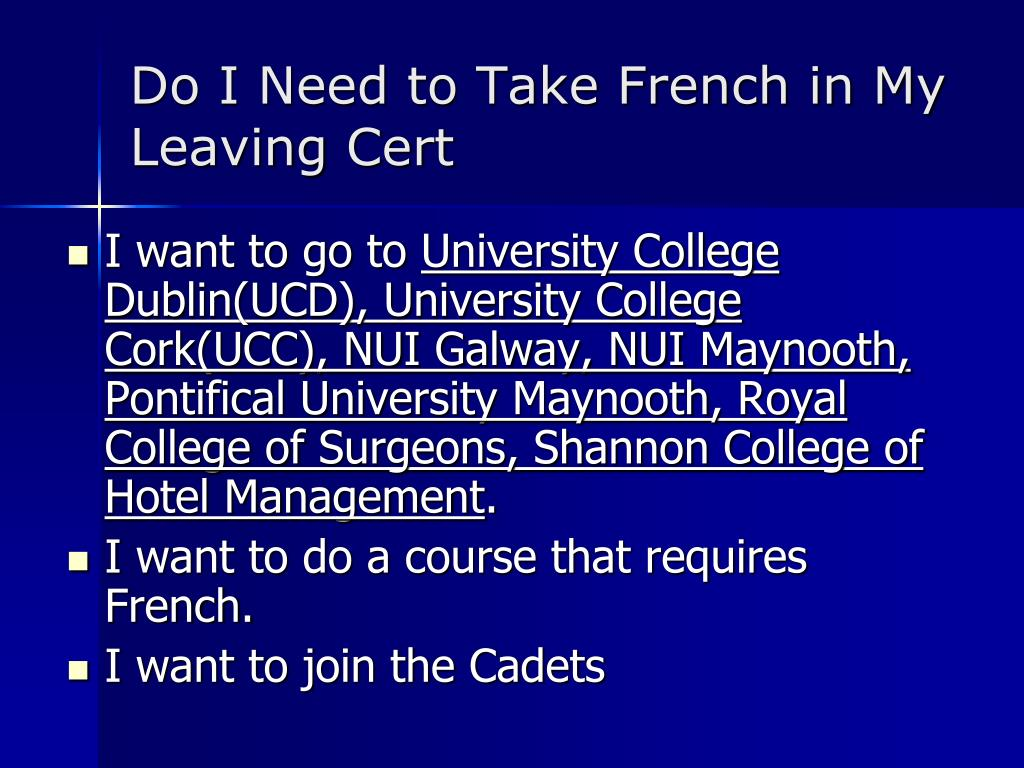 Do I Need to Take French in My Leaving