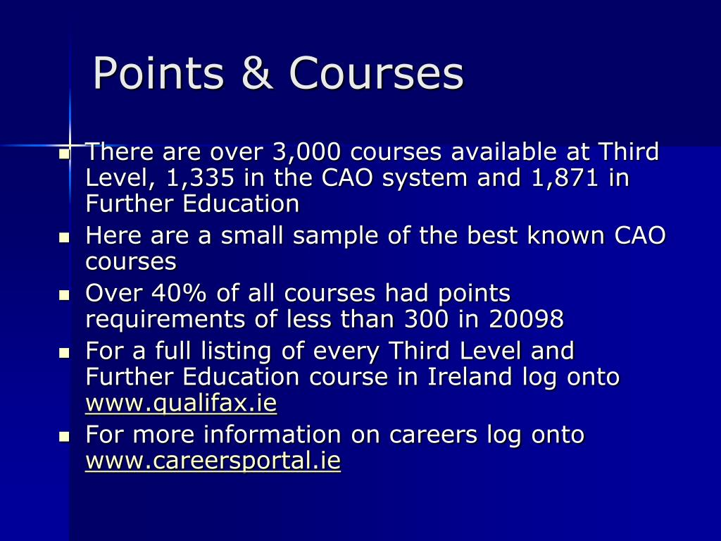 Points & Courses