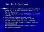 points courses