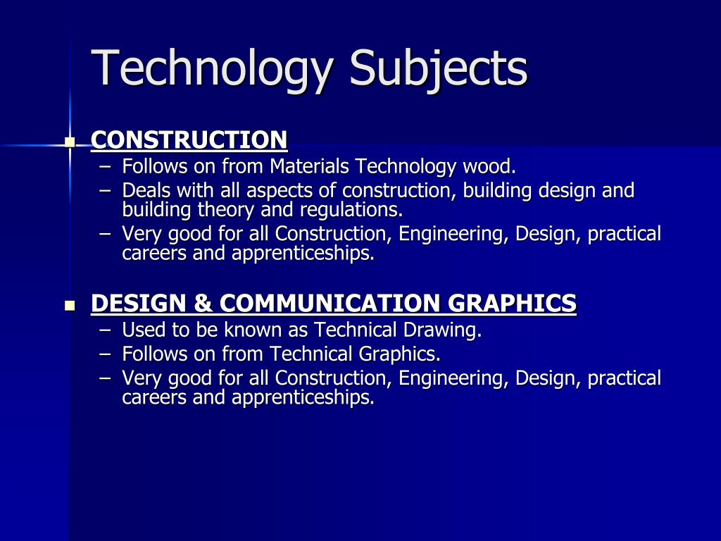 Technology Subjects