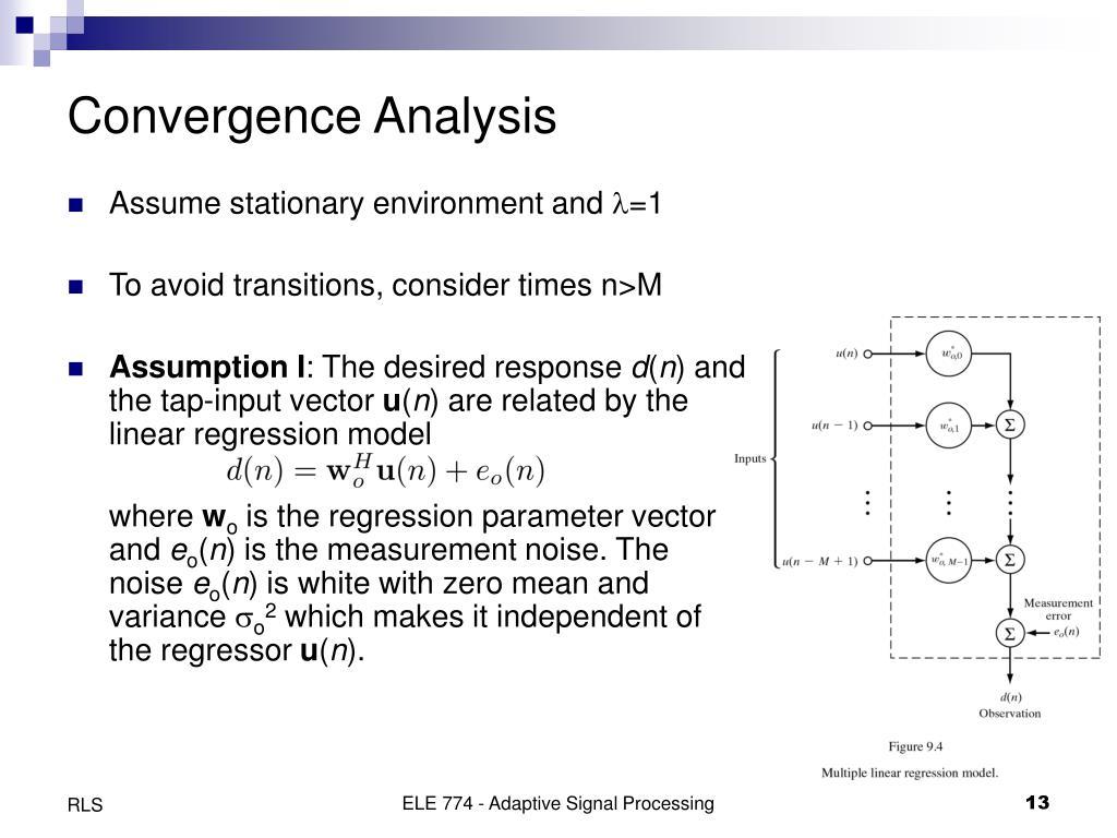 Convergence Analysis