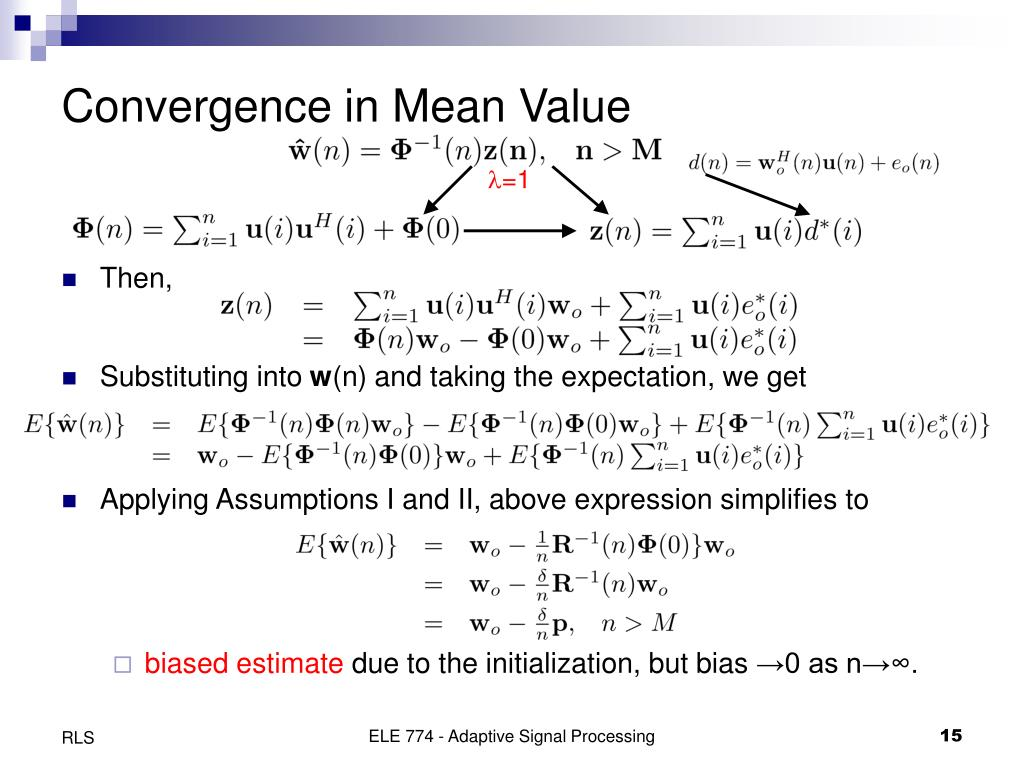 Convergence in Mean Value