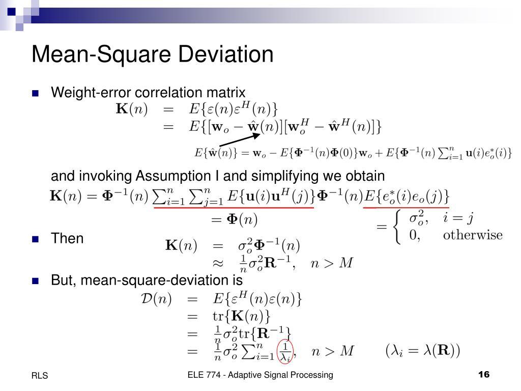 Mean-Square Deviation