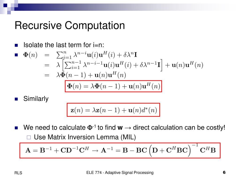 Recursive Computation