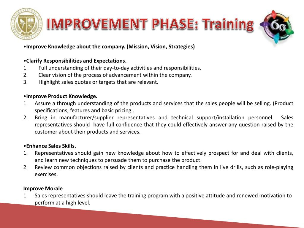 IMPROVEMENT PHASE: Training