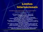 limites internacionais